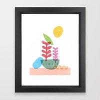 Still Life with Egg & Worm Framed Art Print