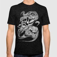 From My Mouth Mens Fitted Tee Tri-Black SMALL