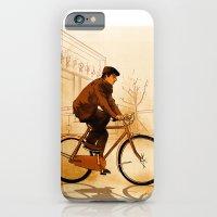 iPhone & iPod Case featuring The Biker by Studio Caravan