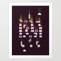 War Of The 8-Bit Worlds Art Print