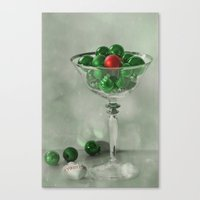 the red bauble Canvas Print