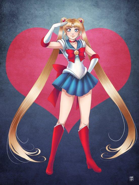 Pretty Soldier Sailor Moon 2013 Art Print