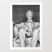 Abraham Lincoln at the Lincoln Memorial Art Print