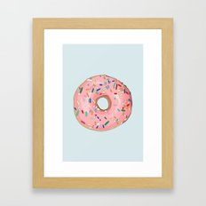 Strawberry Frost Donut Framed Art Print