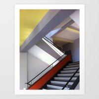 Bauhaus Staircase Art Print