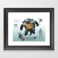Pokemon-Blastoise Framed Art Print