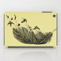Feather Birds BW iPad Case