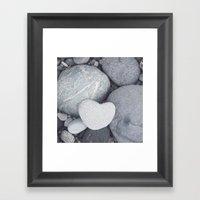 Heart Shaped Rock Framed Art Print