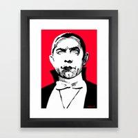 LUGOSI RED Framed Art Print