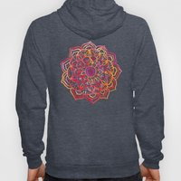 Watercolor Medallion in Sunset Colors Hoody