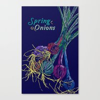 Spring Onions Canvas Print