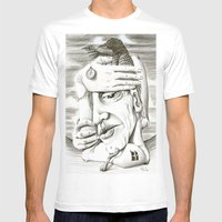 080214 Mens Fitted Tee White SMALL