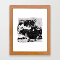 Baxter  |  The Cat That Lives With Me Framed Art Print