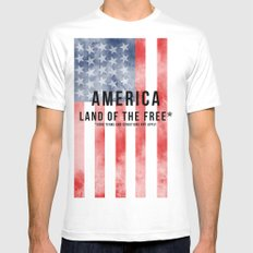 America: Land of the Free*  Mens Fitted Tee White SMALL