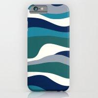 Cordillera Stripe: Teal Navy Combo iPhone 6 Slim Case