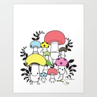 WELCOME TO MUSHROOM LAND… Art Print