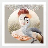 Bird Of Cranes Art Print