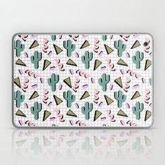 Sweetness - memphis retro grid cactus pastel neon 80s style classic socal beach life surf desert art Laptop & iPad Skin