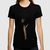 Affliction Womens Fitted Tee Black SMALL