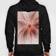 Flower Decoration Hoody