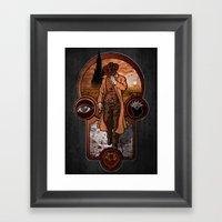 The Gunslinger's Creed. Framed Art Print
