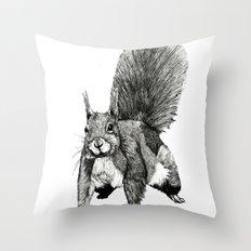 Pesky Squirrel Throw Pillow