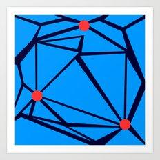 3 Red Dots Art Print