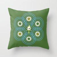 #251 Celebi ~ TIME Throw Pillow