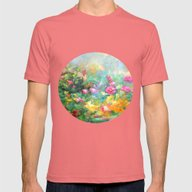 Roses Paint  Mens Fitted Tee Pomegranate SMALL