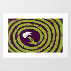 Decaying Snake Art Print