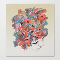 Graffiti Head Canvas Print