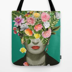 Frida Floral Tote Bag