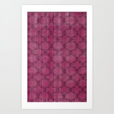 Overdyed Rug 1 Crushed Berry Art Print