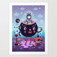 Amigos cósmicos Art Print