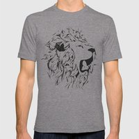 Leo Mens Fitted Tee Tri-Grey SMALL