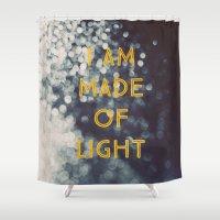 Made Of Light Shower Curtain