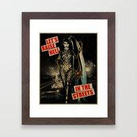 Let's Raise Hell Framed Art Print