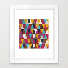 Triangles Design Colors 2 Framed Art Print