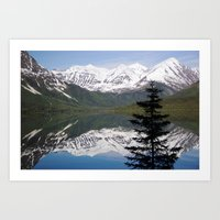 Mountain Reflection With… Art Print