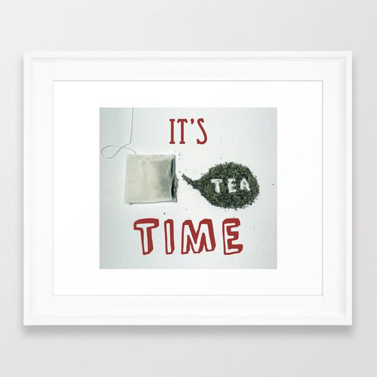 It's Tea Time Framed Art Print
