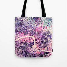London Mosaic Map #2 Tote Bag