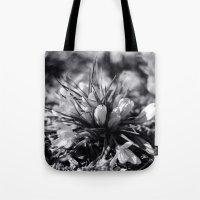 Sunlit Crocus In Black A… Tote Bag