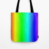 RAINBOW COLOR DOT Tote Bag