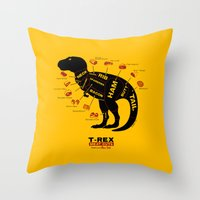 Dino Deli Throw Pillow