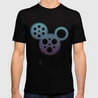 mickey mouse mechanisms Mens Fitted Tee Black SMALL