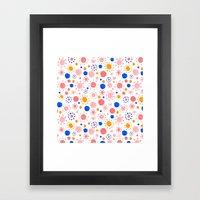 Dots Pattern Framed Art Print