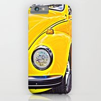 iPhone Cases featuring Yellow VW Beetle by Brian Raggatt