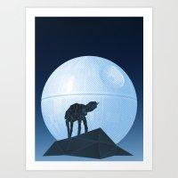 Howl At At The Moon Art Print