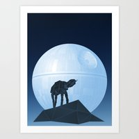 Howl At At The Moon Art Print