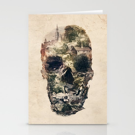 Skull Town Stationery Card